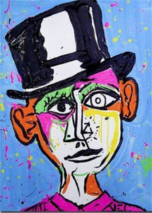 Alec Monopoly Graffiti art wall decor Picasso Handpainted &HD Print Oil Painting On Canvas Wall Art Canvas Pictures ,F201201