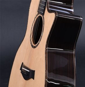 Custom Solid Spruce Top 914 Acoustic Electric Guitar with 301 EQ 40 Inch Real Abalone 914ce IN STOCK