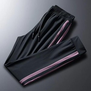 2020 new men's fashion casual trousers outdoor sports breathable quick-drying ice silk loose feet casual pants men