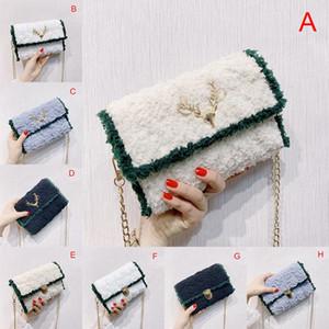 1 PZ fai da te carino sacchetto di velluto fatto a mano borsa a tracolla in tessuto a mano in tessuto a mano