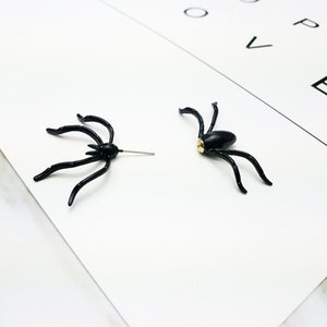 Halloween Party Halloween Decoration 1 Piece Of 3d Creepy Black Spider Stud Earrings Diy Decoration Home Decoration