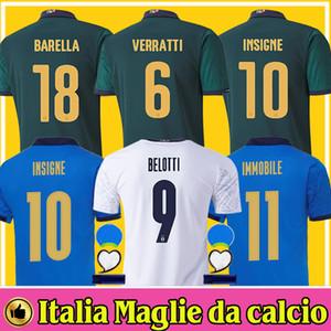2020 2021 Italia BARELLA SENSI INSIGNE Soccer Jersey 20 21 CHIELLINI BELOTTI Italia Maglie da calcio BERNARDESCHI CALCIO CAMICIE uomo bambino Italy Jerseys