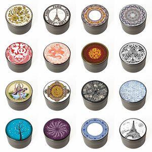 Venda imperdível! 21 padrões Liga de alumínio Quatro camadas Moedor de fumaça Impresso Cigarro Metal Grinder Acessórios para fumar Atacado
