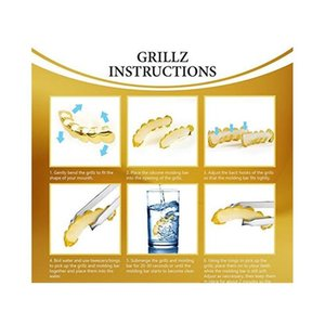 24k Gold Plated Hip Hop Grillz Top And Bottom Grills For Mouth Teeth 2 Extra Moldi wmtEXf new_dhbest