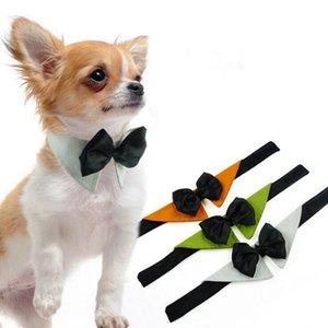 Pet Ties Pet Dog Stripe Bow Neckties Adjustable Puppy Cat Kitten Pet Toy Kid Bow Tie Necktie xhCFYZ104