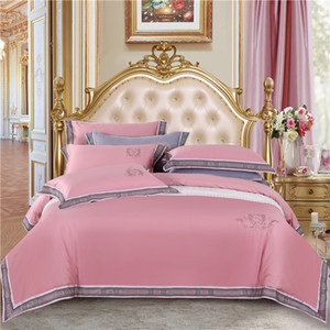 Purchase of New Group Chinese Style Embroidery 4-piece Long Staple Cotton 4-piece Bed Sheet