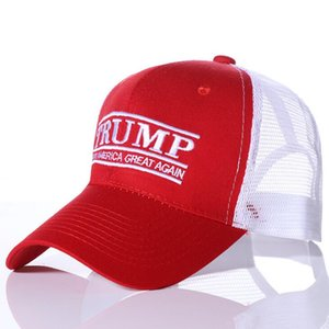 Donald Trump 2020 Baseball Cap Patchwork washed outdoor Make America Great Again hat Republican President Mesh sports cap EEF2336