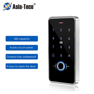 Contrôle d'accès d'empreintes digitales IP68 Numéro de reconnaissance biométrique extérieur imperméable 13.56MHz Touch Lecteur de serrure de porte intelligente