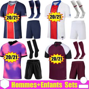 19 20 PSG futbol formaları Paris Saint Germain NEYMAR JR MBAPPE SARABIA ANDER HERRERA CAVANI Air JORDAN 2019 2020 kaleci şampiyonları gömlek erkek bayan çocuk kitleri setleri