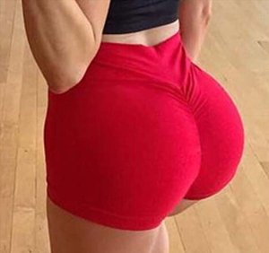 Women Sexy High Waist Slim Running Sport Shorts Lady Summer Casual Solid Fitness Gym Skinny Fit Stretchy Short Pants