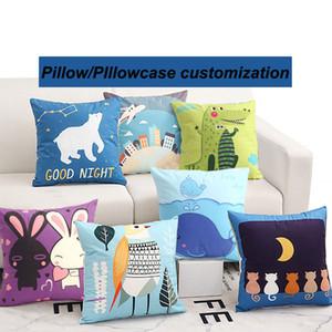 Logo curto Plush Algodão Pillow Pillowcase dos desenhos animados Adorável bonito Sala Sofa Pillow Pillow Covers Capa de Almofada personalizado VT1991