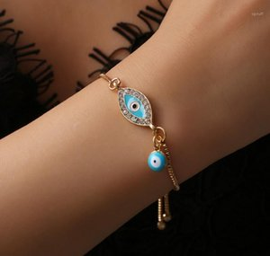 2020 Turkish Lucky Blue Crystal Evil Eye Bracelets For Women Handmade Gold Chains Lucky Jewelry Bracelet Woman bbyaIy bde_home