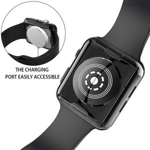 Amazon Hot Sale Protector Watch Case for Apple Watch Plated TPU Screen Soft Cover Case