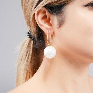 Wulibaby Big 3 Color Color Drop Boucles d'oreilles 2020 Mode Femmes Rouge Blanc Champagne Boucles d'oreilles Nouvel An Cadeaux1