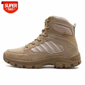 Outdoor Men Military Boots Quality Special Tactical Desert Combat Ankle Boats Army Work Shoes Leather Waterproof Hiking Shoes #Wm0p