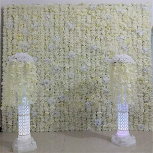 24pcs lot 60X40CM Milk white Peony rose Design Flower Wall for Wedding Window Backdrop Centerpieces Deocrations Free Shipping