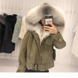 2018 Natural Real Fox Fur Liner Raccoon Fur Collar Thick Warm Winter Jacket Women Coat Parkas Detachable 3 In 1 Outerwear New Hood