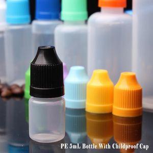 Dropper Bottles 5ml Plastic E Liquids Bottle PE Soft Empty With Childproof Caps And Long Thin Tip 4000pcs lot