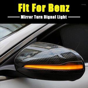 LED الديناميكي بدوره إشارة ضوء اللمعان ل C فئة W205 E W213 S W222 الجانب مؤشر مرآة الرؤية الخلفية Blinker1