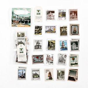 60 Pcs Lot Vintage Stamp Stickers Pack Van Gogh Aesthetic Sticker Scrapbooking Decorative Diary Stick Label Album Journal bbyAXG