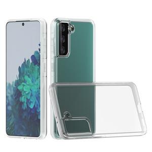 Para los estuches para iPhone 12 Pro Max, Samsung Galaxy S21 Plus Ultra S20 FE nota 20 Huawei P40 2 mm de grose TPU transparente Funda telefónica