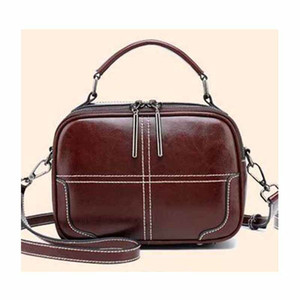 New fashion women split leather handbag ladies shoulder bag women messenger bag leather Cross body Bags 201204