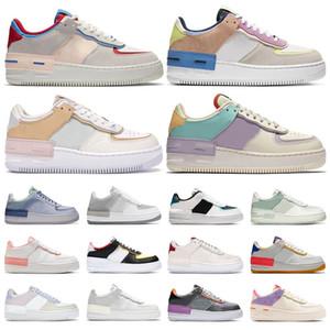 force 1 corso d'uovo di Pasqua scarpe skateboard Colorate rosa bianco blu Moda Top piattaforma di qualità Sneakers casual formato 36-40