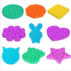 Hot Pop Fidget Toy Sensory Push Pop Bubble Board Board Juego Sensory Juguete Ansiedad Estrés Relefante Para Niños Adultos Autismo Necesidades especiales E122202