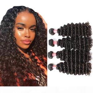 Bella Hair 10~24inch Virgin Indian Hair Human Hair Extension Unprocessed Natural Color Deep Wave Julienchina 2 Bundles Free Shipping