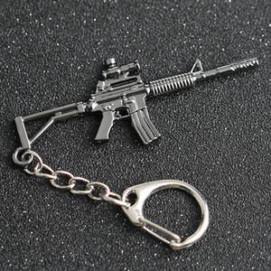 Cs go csgo cf keychain m4 m4a1 carabina fucile pistola arma contatore datore gioco gioco croce portachiavi chiave portachiavi anello anello gioielli all'ingrosso
