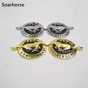 شارة الذكرى السنوية فورد موستانج شعار ملصق اسم 40th جنبا إلى جنب ل soarhorse لوحة جوب