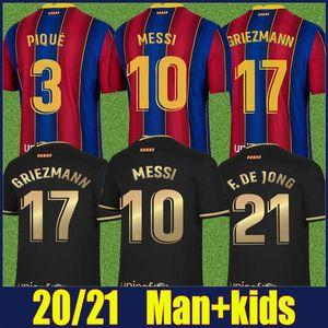 2020 İspanyol Futbol Kulübü Jersey Frenkie Antoine Leo Kırmızı Mavi Çizgili Futbol Forması Uzakta Siyah Gömlek Adam Çocuk Seti Camiseta de Futbol 20/21