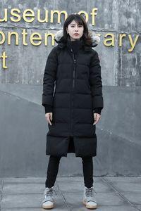 Hot selling down jacket for men's women with wolf fur hooded canada parka winter coat Windbreaker face north designer maya