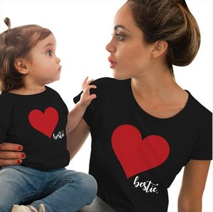 Mommy and Me Clothes T shirt Family Matching Clothes Summer Love Print T Shirt Mother and Daughter Family Look