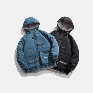 2021 Invierno Nuevo Herramientas básicas espesadas de algodón acolchado de algodón Moda de Hombres de Alta Calidad