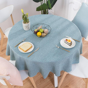 Cotton Linen Table Cloth Round Wedding Party Table Cover Nordic Coffee Tablecloths Home Kitchen Decor