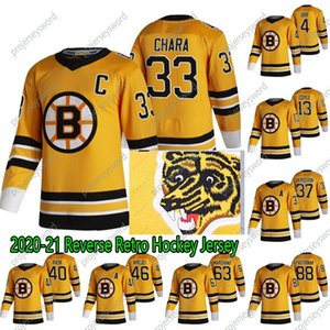 2020-21 inverse Retro David Pastrňák Jersey Bruins de Boston Zdeno Chara Tuukka Rask David Krejci Brad Marchand Charlie McAvoy Hommes Femmes Enfants