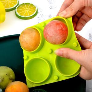 Ice Cubo Maker Ball Mold 4 Grades Bola de Silicone Diy Cocktail Whiskey Form para Cubos de Gelo Bandeja Sorvete Molde Bar Acessórios YYS2919