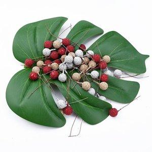 20 40 UNIDS Barato Artificial Fruit Foam Stamen Cherry Gold Silver Flowers DIY Navidad Artesanía Decoración para suministros de boda Party Party Jllitn