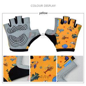 Darevie Kids Cycling Gloves Lindo dibujos animados niños guantes guantes gel almohadilla a prueba de golpes Edad 3 4 5 6 7 8 años de edad BYBYGUR YH_PACK