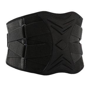 -Men Adjustable Trainer Waist Support Fitness Belt Sport Protection Back Absorb Sweat Fitness Sport Protective Gear