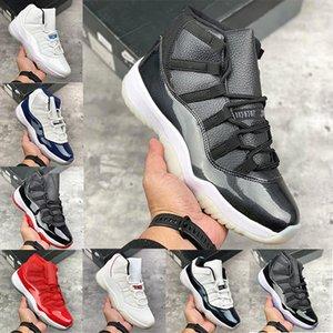 Jumpman 11 11s Black White Hombres Zapatos de baloncesto Snake Skin Bred Mens Entrenadores Diseñadores zapatillas deportivas Zapatillas deportivas 40-47