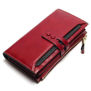 Новая большая емкость кошелек ретро кошелек женские длинные