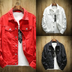 tnP JAYCOSIN Men's Autumn Jeans Winter coat denim ssy denim Jacket Casual Vintage Coat Distressed Jacket Denim jacket Wash Top Blouse High Q