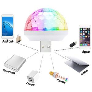 2021 USB Mini Etapa Luz Disco DISCO ELFIN Control de voz autopropulsada Cristal Magic LED LED Ball Ball USB Música Luz de bombilla Luz de noche