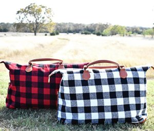 Buffalo Check Handbag Red Black Plaid Bags Large Capacity Travel Tote With Pu Handle Storage Maternity Bags Ooa6384 bbyRwWI warmslove