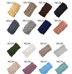 32colors Knit Hair Band Fashion Crochet Headband Winter Warm Wool Crochet Hairband Girls Headwrap Scarf Turba wmtmuj dayupshop
