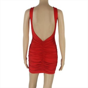 womens dresses 2019 very hot sexy ladies Sleeveless Pleated sexy Dress for women Drop Shipping Good Quality