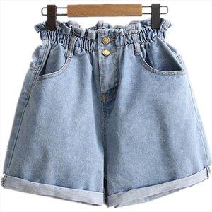 B2930 Summer 2019 new Korean version womens fashion loose thin wide leg hot high waist denim short cheap wholesale