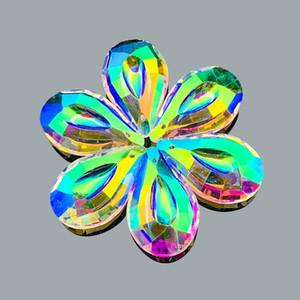 Ab Color Hanging Crystals Prism Pendants Suncatcher For Windows Decoration Chandelier Parts Accessories Diy Home Wedding Decor H bbyekg